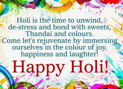 Holi Greetings Card