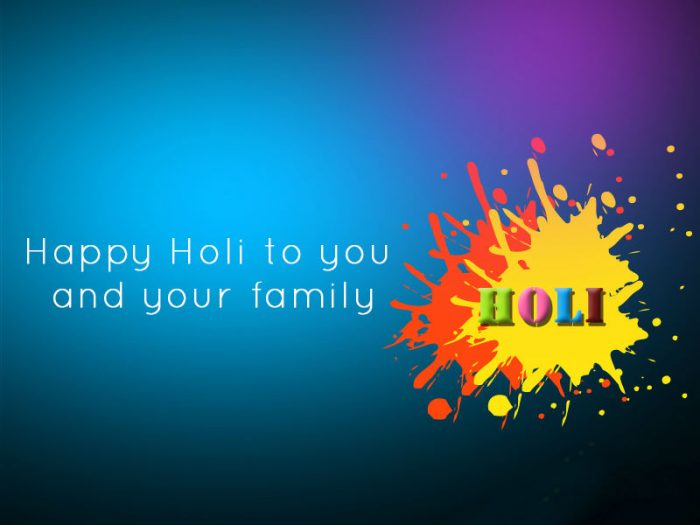 Message for Holi